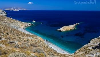 pláž Katergo v celé své kráse...v pozadí ostrov Sikinos