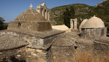 Panaghia Drosiani - jeden z nejstarších kostelů na Balkáně a nejvýznamnější křesťanská památka Naxu (foto: Radek66)