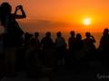 čekání na západ slunce v Oia