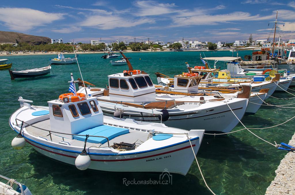 rybářské loďky v Pollonia