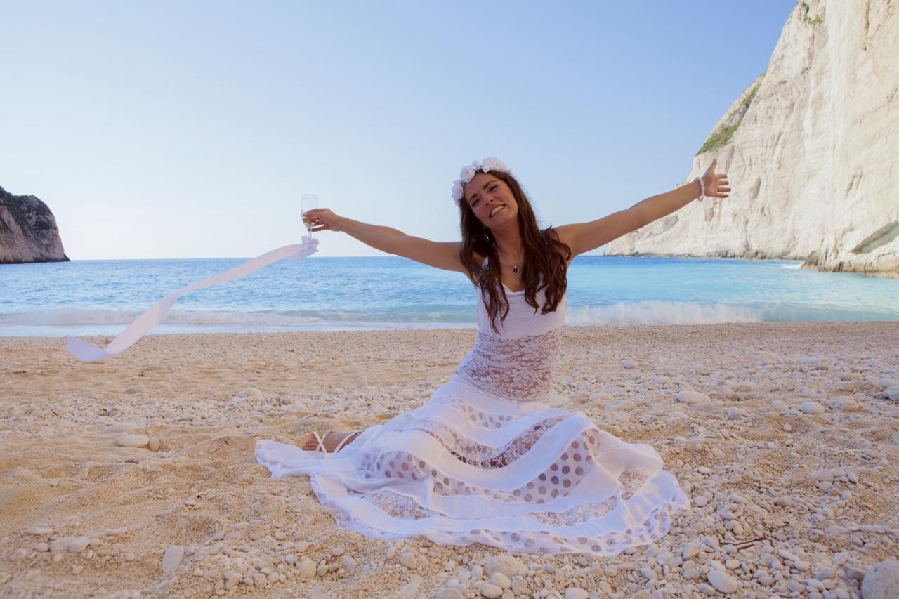 Svatba na pláži Navagio - Zakynthos