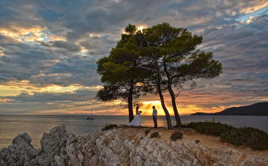 Svatba na ostrově Skopelos - útes Amarandos z filmu Mamma Mia