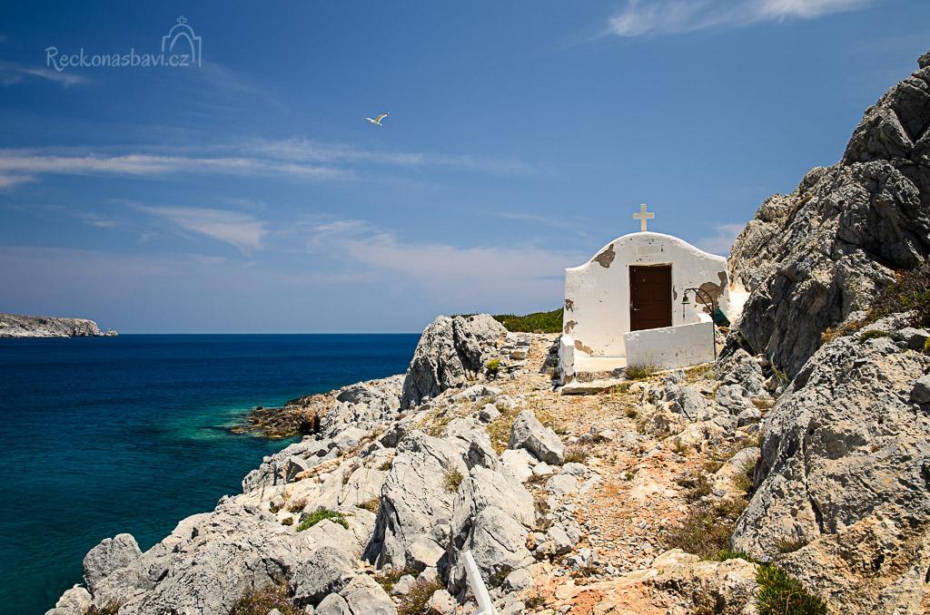 ... jde se na průzkum ke kapličce Aghios Fokas ...