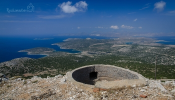 z vrcholu Kastellanos (366m n.m.) máte celý ostrov Astypalea jako na dlani a v dálce uvidíte i bílé domky z městečka Chora...