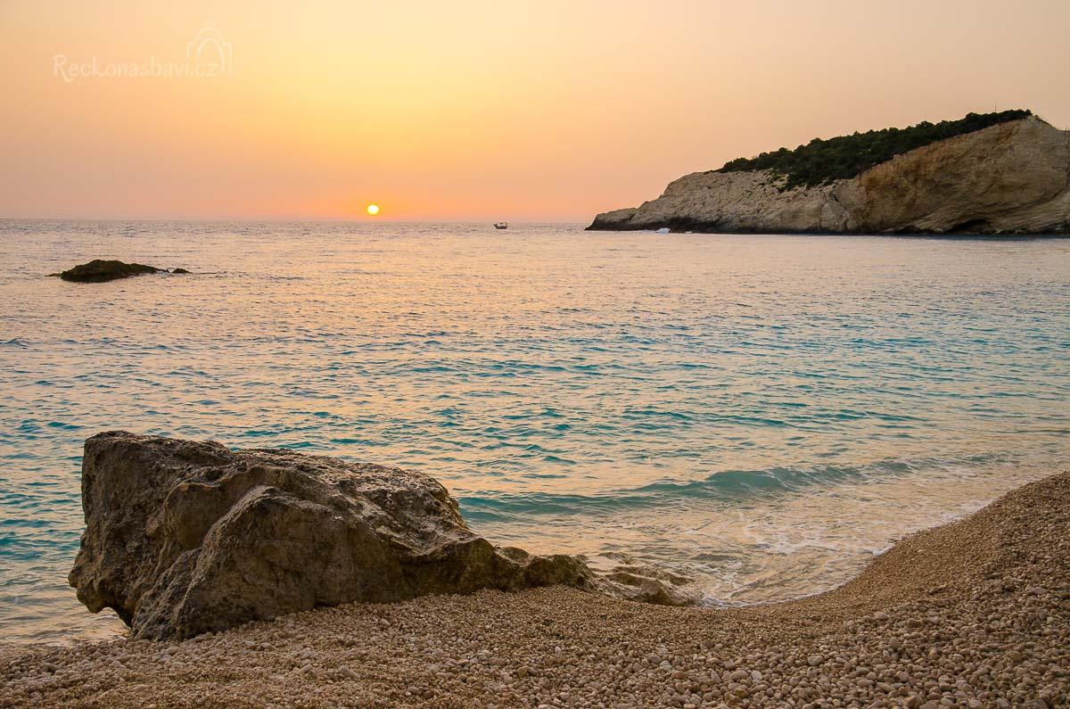 západ slunce na Porto Katsiki