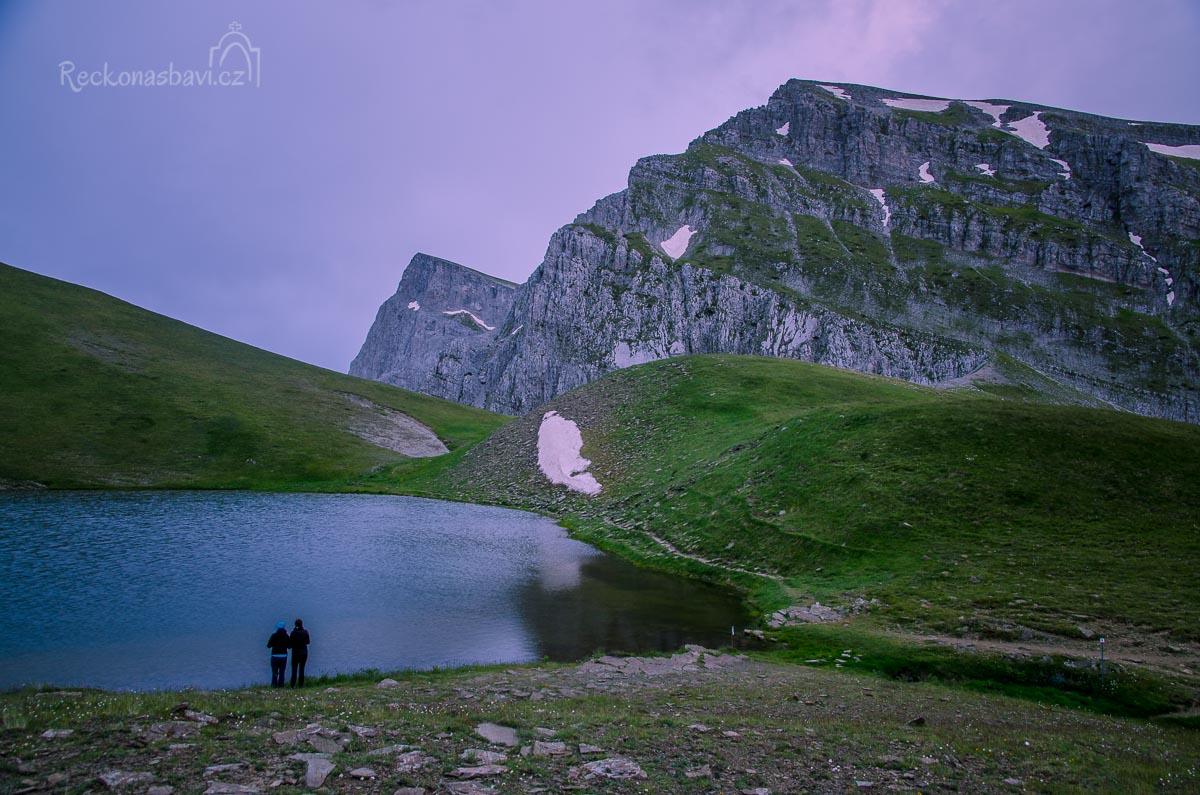 večerní kolečko kolem jezera