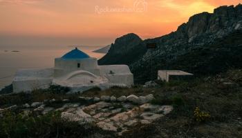 západ slunce u Aghios Ioannis