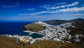 Chora v plné kráse. Jeden z nejkrásnějších pohledů v Řecku.