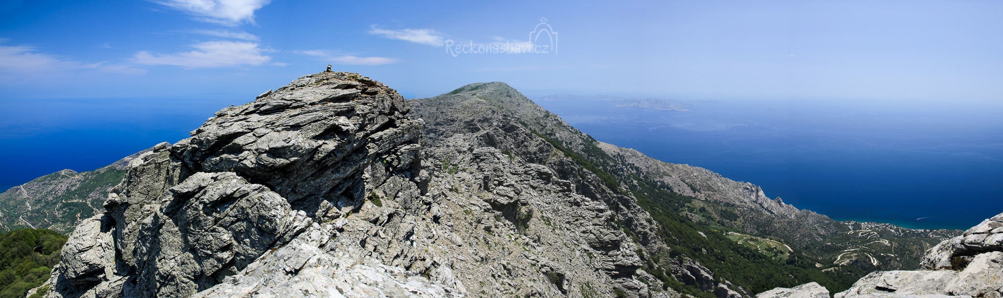 poslední kroky k vrcholu Tsolias (1021m n.m.)