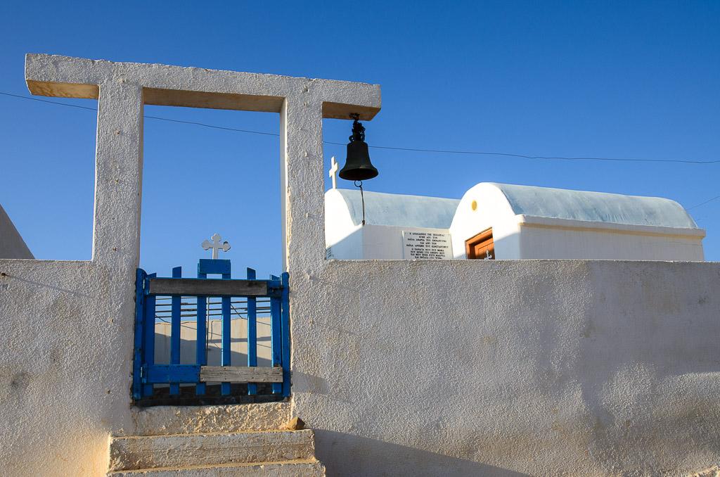 kaple Aghios Thomas, výchozí bod a zároveň parkoviště