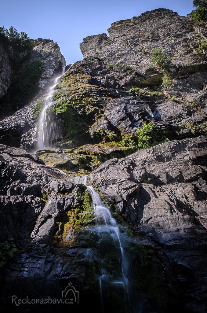 horní část Raxounia waterfall
