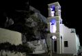 Kostel Panaghia Gremiotissa je v noci okouzlující