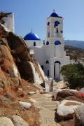 Kostel Panaghia Gremiotissa - jedna z dominant Chory, kterou nelze přehlédnout