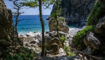 ... ukrytá , divoká, úžasná ... To je Fakistra na poloostrově Pelion (Pilion) ...