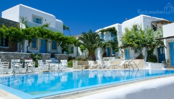 ubytování v Ampelos resort - zatím naše nejlepší ubytování v Řecku s výhledem na Choru!