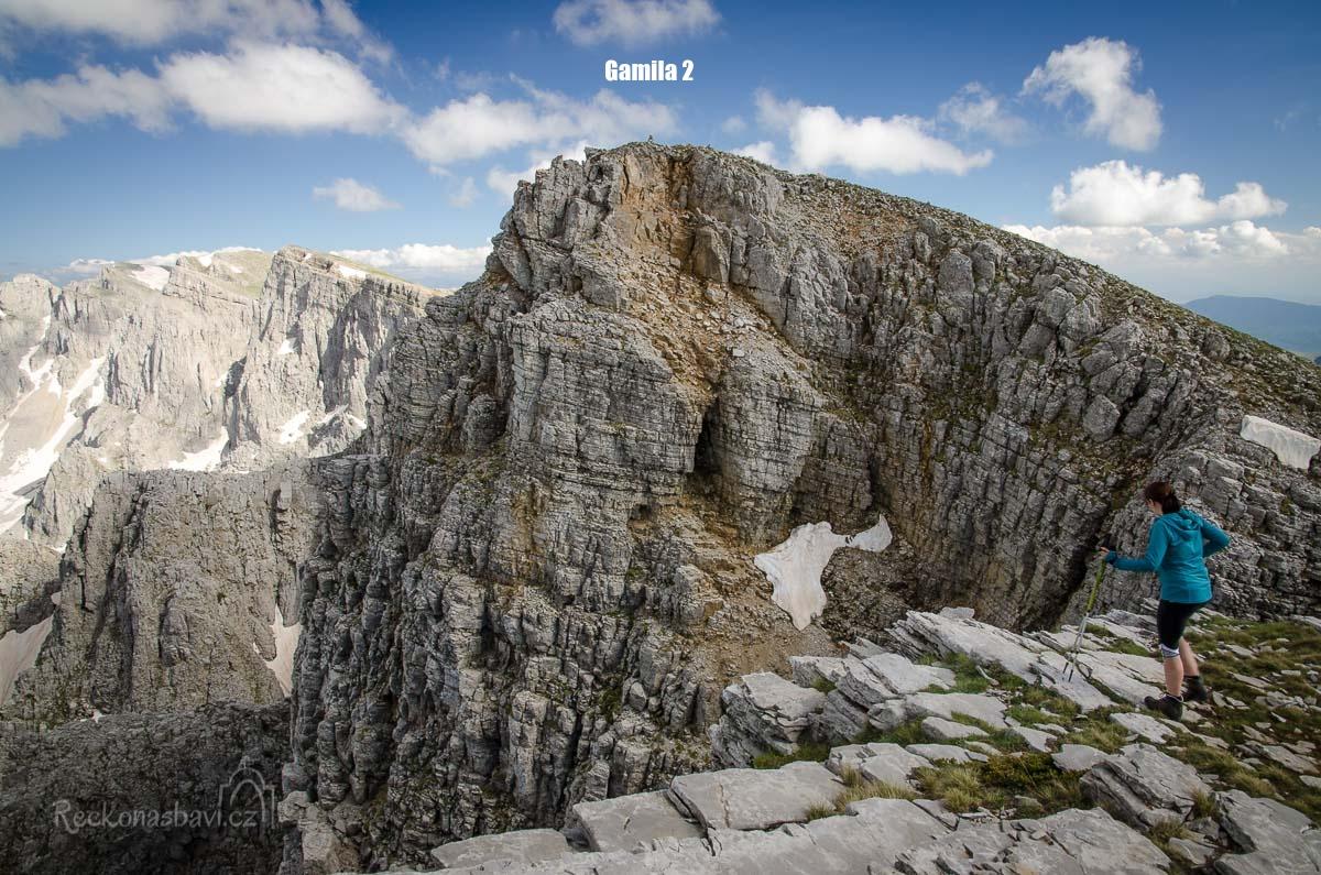 Nahoře jsou hned dva vrcholy Gamila č. 1 a č. 2.