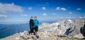 Katka s Verčou na nejvyšším vrcholu pohoří Tymfi