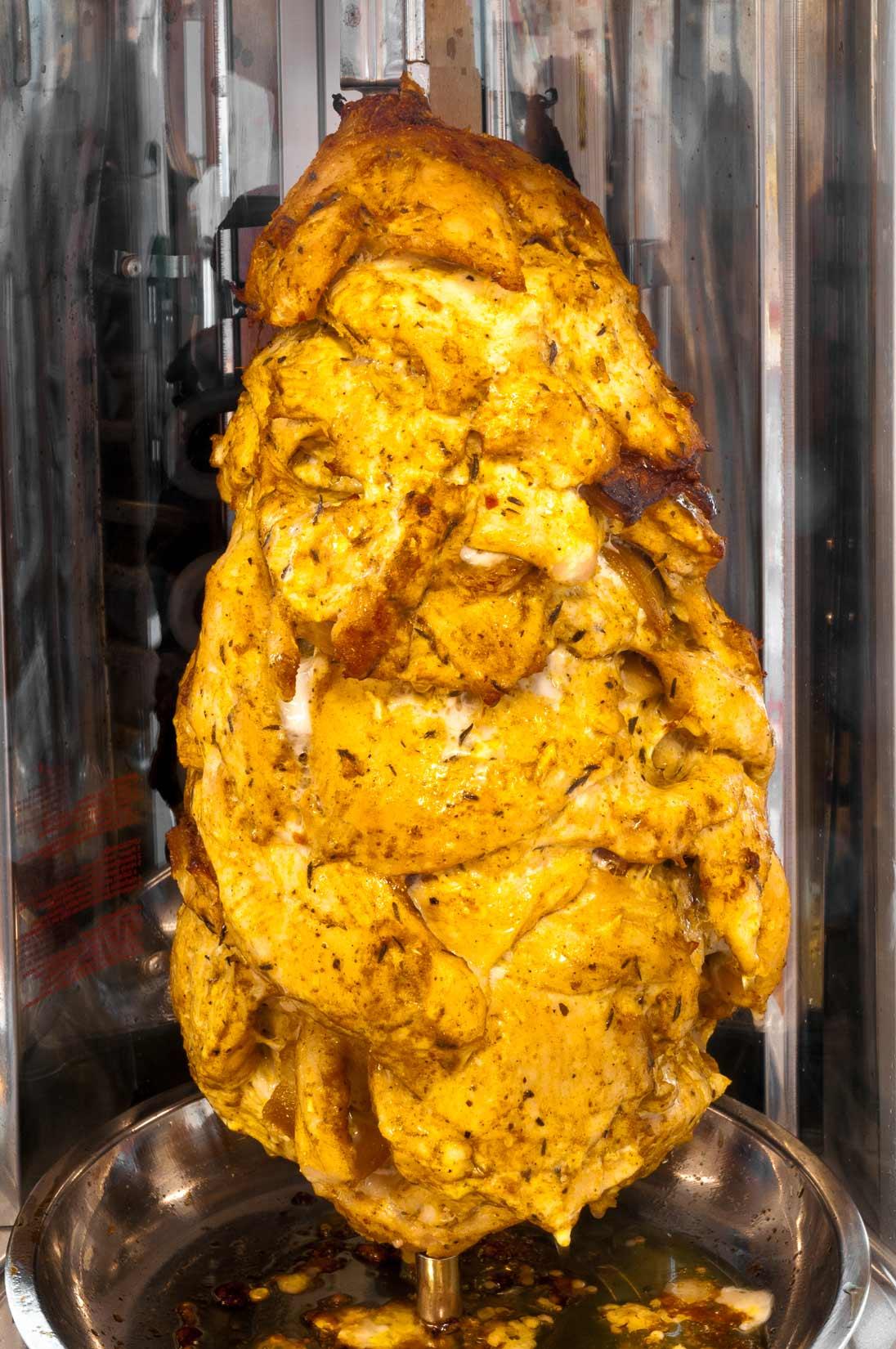 Gyros připravený k ořezu má krásně zlatavou barvu