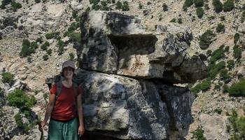 Xenia je naším osobním průvodcem po kaňonu Chalares