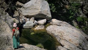 Xenia kontroluje aktuální stav bazénků