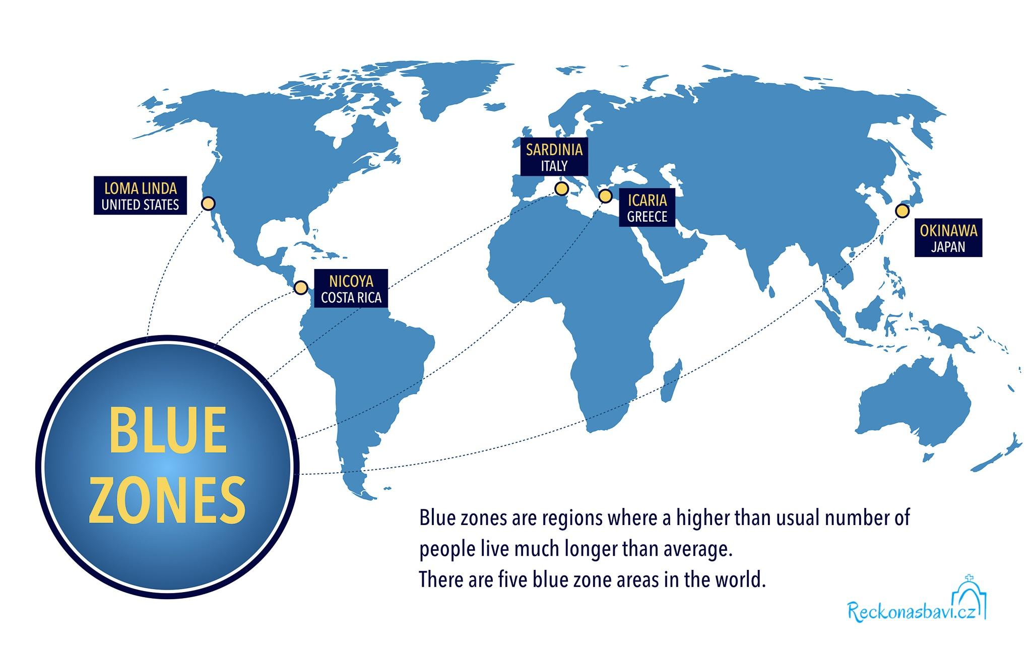 Na naší planetě bychom mohli najít pouze 5 míst, kde se místní obyvatelé dožívají velice vysoké věku.
