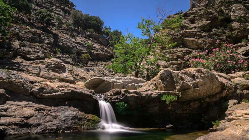 Chalares canyon - Dipotama - místo, kde se potkávají dva potoky