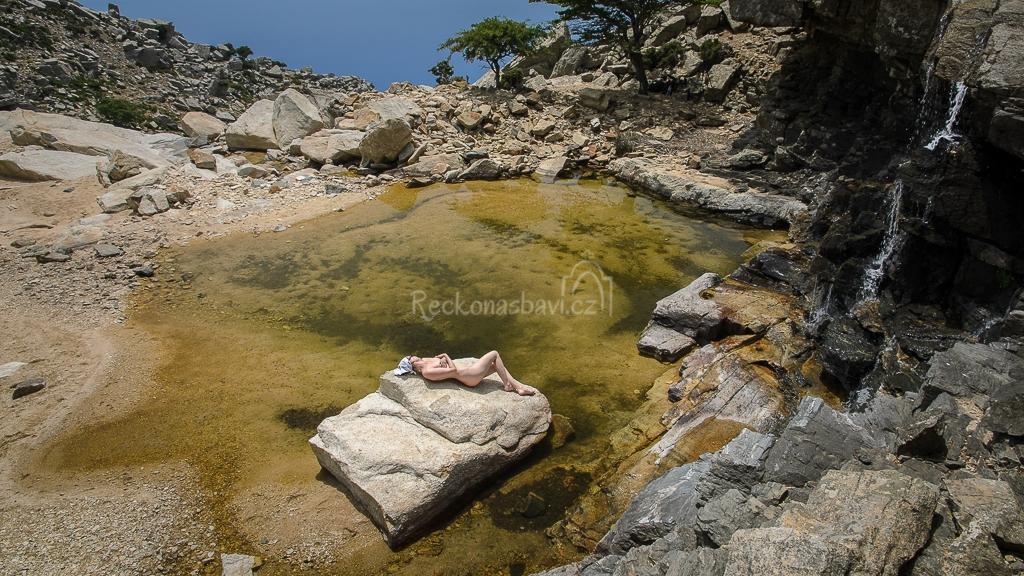 koupání v 860 m n.m. v kaňonu Ryakas. Jedinečný zážitek!