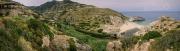 na pláži NAS koční voda z kaňonu Chalares jen pár metrů před mořem