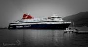 trajekt Nissos Mykonos v přístavu Evdilos