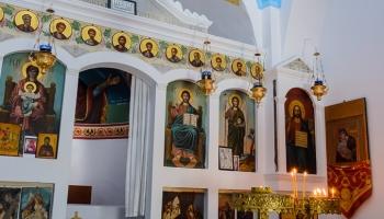 oltář kostelíku Kyra Panagia
