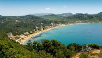 Letovisko Agios Georgios na severozápadě Kerkyry
