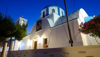 jediný kostel na Pano Koufonissi - Aghios Georgios (1870)