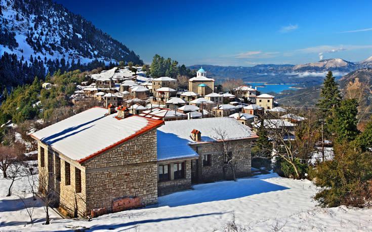 i v zimě nemá vesnička Fidakia jedinou chybu!
