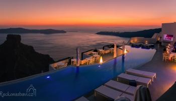 Santorini - luxusní ubytování v Imerovigli s výhledem na Skaros