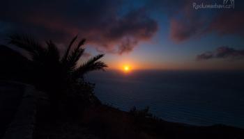 západ slunce nad Agios Nikitas