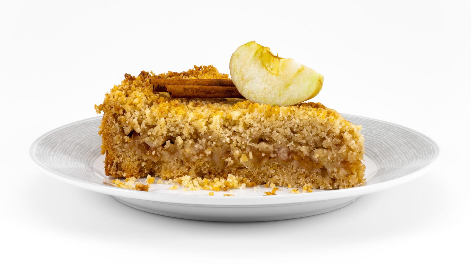 Milopita trifti - řecký jablečný řez se strouhanými jablky