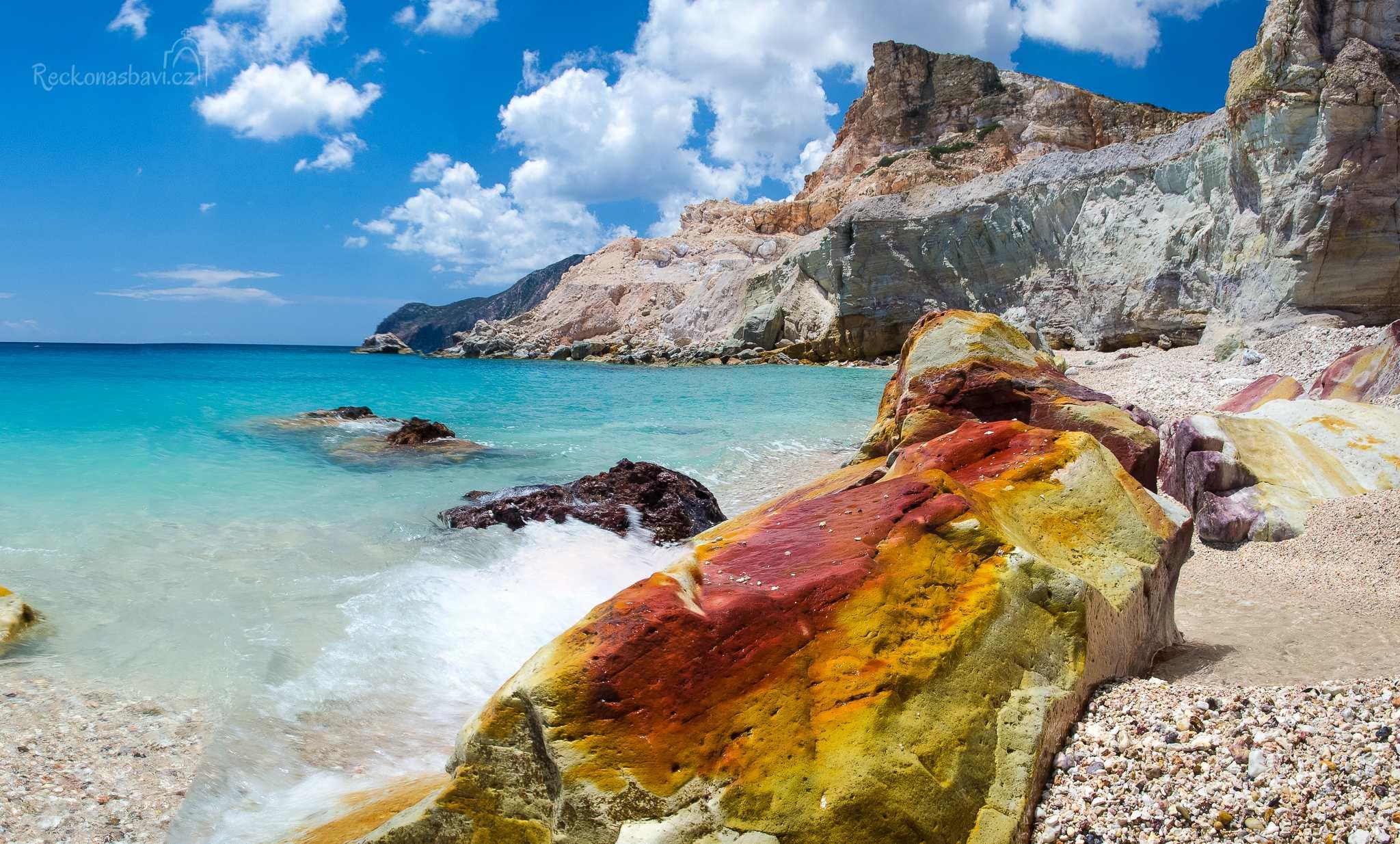pláž na Cape of Kastanas