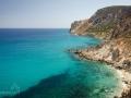 ...pohled jižním směrem na pláže dostupné pouze lodí nebo na kajaku (který je tu hodně oblíbený)...