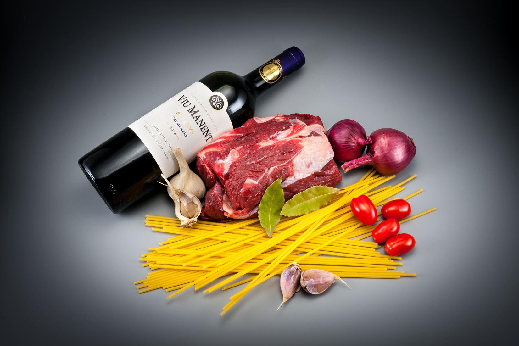 Hovězí maso a červené víno - základ Pastitsady