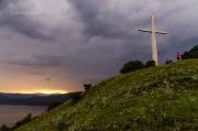 nad Albánií hřmí, sluníčko zapadá a my se těšíme, jaká bude noc :)))