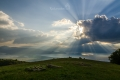 ... naskýtá se nám odtud až pohádkový výhled na Prespanská jezera ...
