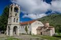 ... byzantský kostel Agios Germanos z 11. století ...