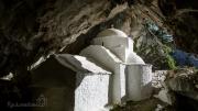 Panaghia Makrini - kostelík ve skalním masivu hory Kerkis