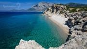 pláž Kaladhakia s panoramatickým výhledem na Kerkis