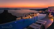 luxusní ubytování v Imerovigli s výhledem na Skaros