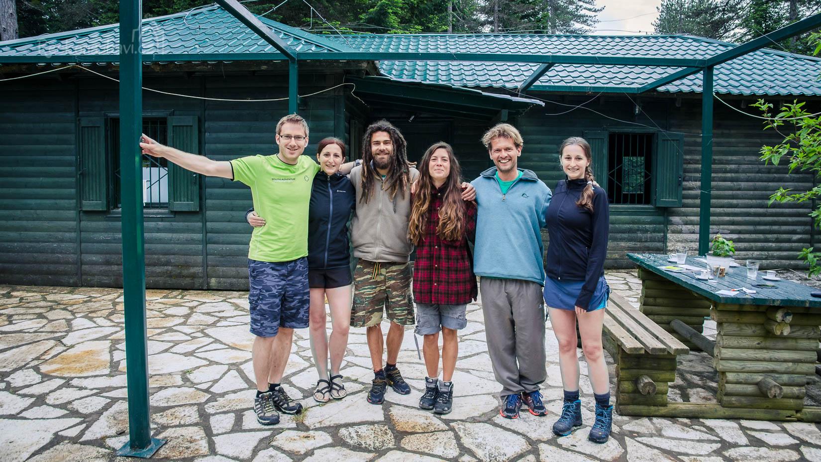 společné foto s Akisem, Alenou a Vasilisem. Děkujeme za prochlídku.