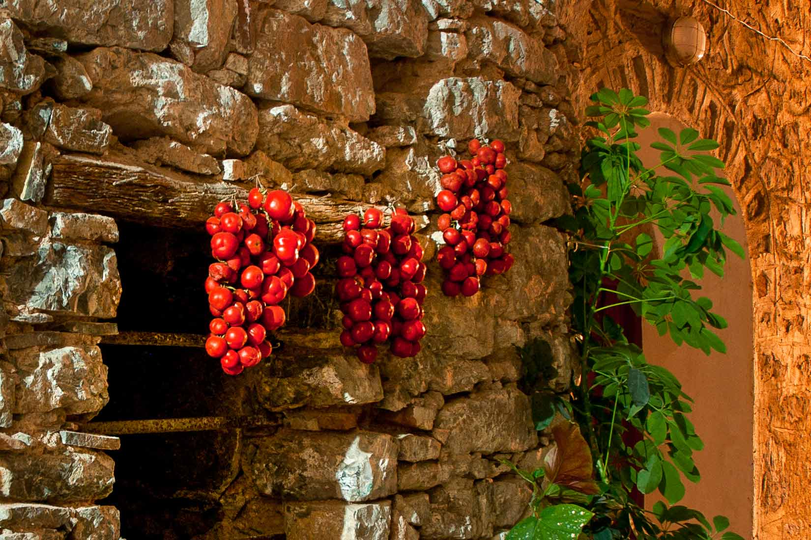 Takto suší rajčátka na Chiosu