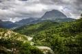 Pohled na horu Strogoula od vesničky Christi