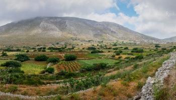Míjíme údolí plné kamenných zídek a teras. Úrodná políčka ještě v 50. letech minulého století živila na 1500 lidí!