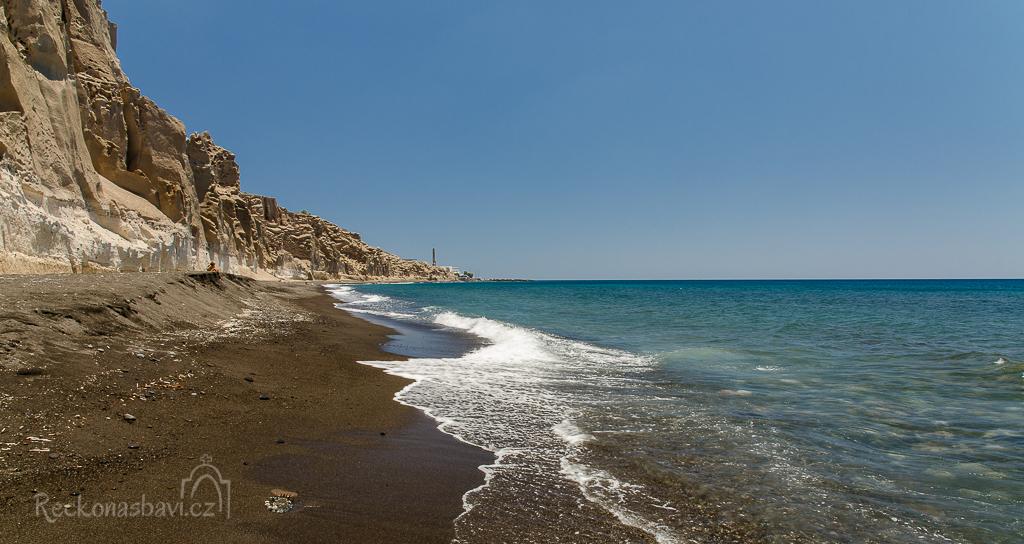 Eros beach Santorini Řecko